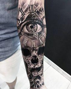 Temporäre Tattoos machen - - to make temporary tattoo crafts ink tattoo tattoo diy tattoo stickers Skull Sleeve Tattoos, Best Sleeve Tattoos, Tattoo Sleeve Designs, Tattoo Designs Men, Sleeve Tattoo For Guys, Men Tattoo Sleeves, Tattoo Sleves, Realistic Tattoo Sleeve, Mens Sleeve