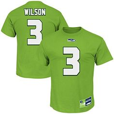 39e807fd1 Russell Wilson Seattle Seahawks Eligible Receiver II Green Name and Number  T-shirt Large Green