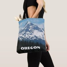 Oregon Mount Hood Photo Tote Bag - accessories accessory gift idea stylish unique custom
