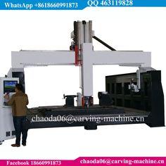 Large PU Polyurethane Polystyrene Styrofoam EPS Foam Wood Carving High Z ATC 3D 4D 5D 5 Axes CNC Machine 5 Axis CNC Router
