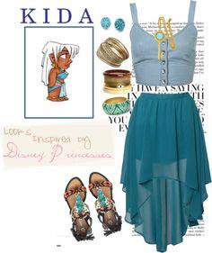 """Looks Inspired by Disney Princesses: Kida."" by jaimarycartaya on Polyvore"