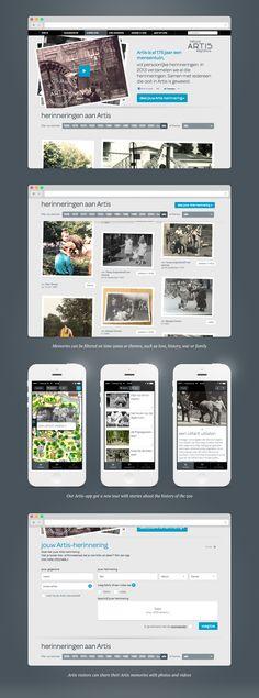 Artis 175 years - Portfolio of Sanne Wijbenga #Webdesign #UI