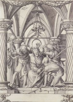 Hans Holbein the Younger - Mockinf Of Christ