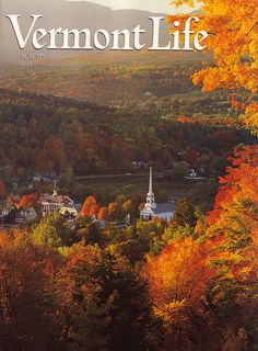 Autumn 1998. Mount Mansfield and the village of Stowe, photograph by Don Landwehrle.