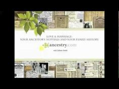 Love & Marriage: Your Ancestor's Nuptials and Your Family History    #ancestry #genealogy #familyhistory