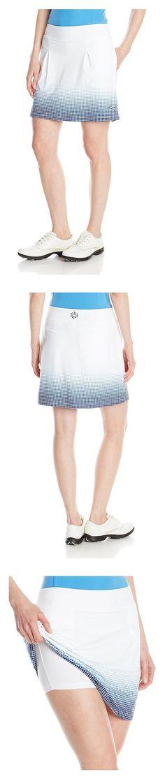 $34.99 - Puma Golf Women's Glitch Fade Skirt White/Medieval Blue #puma
