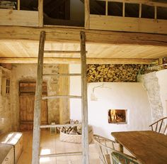 Wood and stone, over 100 years old house on Saaremaa Island / Estonia