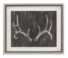 Belgian Luxe 'Rustic Antlers II' Framed Painting Print