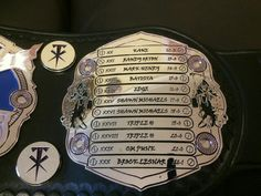 Undertaker Custom Championship Belt Left Side List Of Wrestle Mania Opponents From 12-21 Side Plate
