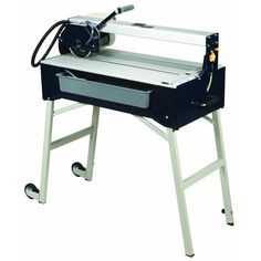 Our recommendation for a wet saw for home owners:  For cutting large tiles and natural stone, we recommend this bridge saw available from Harbor Freight.  Typically it costs around 250 dollars and it is very accurate.  Renting a wet saw for two days will just about pay for this saw.
