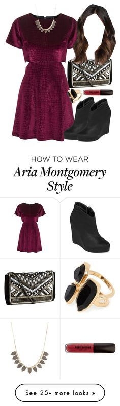 """Aria Montgomery inspired outfit"" by liarsstyle on Polyvore featuring Topshop, H&M, Michael Antonio, Charlotte Russe, River Island, party, formal and Semi"