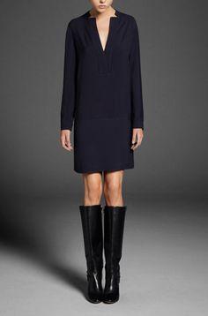MINIMAL NAVY DRESS : Minimal + Classic