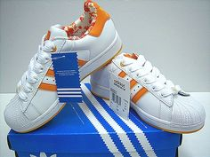 Adidas Superstar Orange Stripes