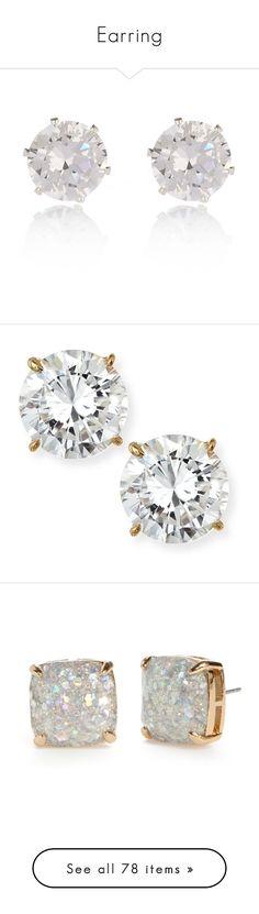 """Earring"" by maryemmanuel on Polyvore featuring jewelry, earrings, accessories, stud earrings, studs, gemstone earrings, studded jewelry, silver tone jewelry, gemstone jewellery and gem stud earrings"
