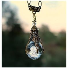 Lord of the Rings inspired Hobbit ARKENSTONE, Quartz Crystal necklace... ($33) ❤ liked on Polyvore