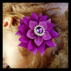 Shades of Purple...Layered Flower by BellesBows2011 on Etsy, $7.00