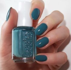 Essie spring 2016 collection - pool side service - nail polish - swatches - blue green polish - spring nail colours
