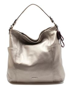 Look what I found on #zulily! Pewter Convertible Leather Hobo & Wallet by Coach #zulilyfinds