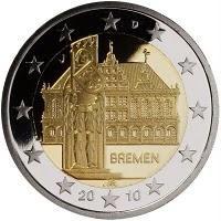 "Duitsland bijzondere 2 Euromunten - Duitsland 2 Euro 2010 ""Bremen"""