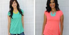 Bright Jersey Pocket Tee: yes to either color and love the simple style for summer