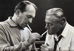 CLASSIC FRIENDSHIP: My grandfather and orchestra leader and composer Percy Faith in the 1960's. This photo appeared on the back of one of Percy's albums.