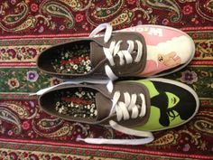 Wicked the Musical Hand Painted Toms/Vans by weinandspirits, $90.00