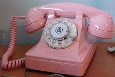 Bubble gum pink art deco Western Electric 302 by ChainofDestiny