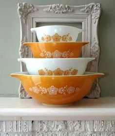 vintage pyrex to some…mom's pyrex to me :)...I found a set at a garage sale and use them all the time
