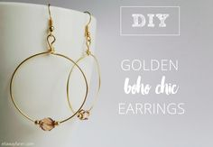 It's time for some new BLING! Make these bohemian chic earrings with me!