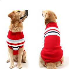 Fashion Comfortable XS-XXXL Large Pet Dog Sweater Cute Dog Clothes in Winter Big Dog Clothes Small Puppy Winter Sweater Dog Sweaters, Winter Sweaters, Big Dogs, Cute Dogs, Large Dogs, Cute Dog Clothes, Dog Jumpers, Large Dog Breeds, Small Puppies