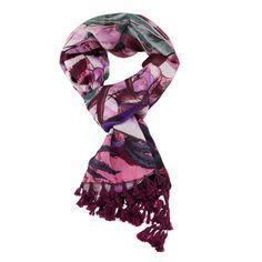#ChristianAudigier 60x40 Double Hande Fringe #Scarf - Black. The #ChristianAudigier Scarf is a quality scarf from the Christian Audigier Scarves Collection