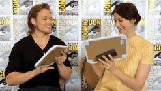 """(gif) - """"If you could play any other Outlander character who would it be?"""" ^^^HAHAHA! That's awesome!"""