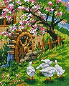1 million+ Stunning Free Images to Use Anywhere Cross Stitch Bird, Cross Stitch Charts, Cross Stitch Designs, Cross Stitching, Cross Stitch Embroidery, Cross Stitch Patterns, Beaded Banners, Cross Stitch Landscape, Scenery Pictures