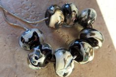stoursglass Encased Shards Rounds Lampwork Beads by stoursglass, $20.00