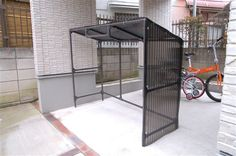 自転車の 自転車置き場 diy パイプ : !イレクター 自転車置き場 ... Facade Architecture, Diy Interior, Outdoor Living, Diy And Crafts, Shed, New Homes, Bicycle, Diys, Woodworking