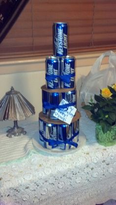Birthday cake for men, cute but would use Dr pepper!