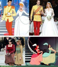 Royal Wedding v. Cinderella in Disney colors