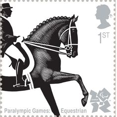 Paralympic Dressage by Andrew Davidson    Royal Mail first class postage stamps launched for London 2012 Olympic Games