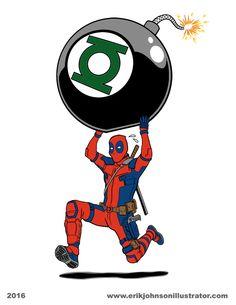 #Deadpool #Fan #Art. (Some days you just can't get rid of a bomb!) By:IllustratorErik. ÅWESOMENESS!!!™ ÅÅÅ+