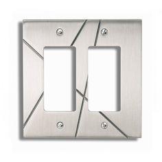 Atlas Homewares NSDR Modernist Double Rocker Switch Plate