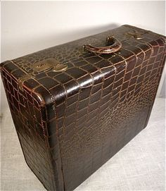 Vintage Samsonite Leather Suitcase / Set of Five | Leather luggage ...