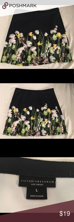 Victoria Beckham for target floral skirt Brand new, never worn, black floral print skirt from the Victoria Beckham for target recent collection. Victoria Beckham for Target Skirts