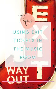 Exit slips are one of my all time favorite assessment tools. You can use them for a grade, student portfolios, or as a gauge for whether or not you should move on in your lessons. Here are a few quick tips on how to implement exit slips in your music classroom.