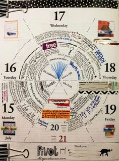 """Merging visual journaling with daily planning facilitates a concept of time and space within my days."" - rightbrainplanner.com"
