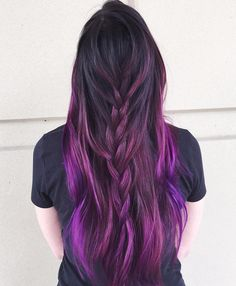 Black+To+Purple+Ombre+Hair