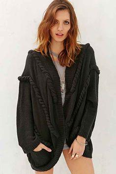 Ladakh Braided Cardigan Sweater