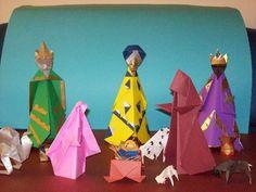 creative nativity scenes - origami crib