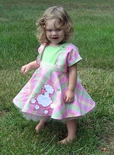 Pink and Green Punk Princess Plaid Poodle Dress with lots and lots of Tulle