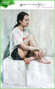 인체실기_티움미술학원 인체수채화/인체색채소묘 : 네이버 블로그 Art Poses, Drawing Poses, Figure Painting, Figure Drawing, Watercolor Portraits, Watercolor Paintings, A Level Art, Girl Sketch, Anatomy Art