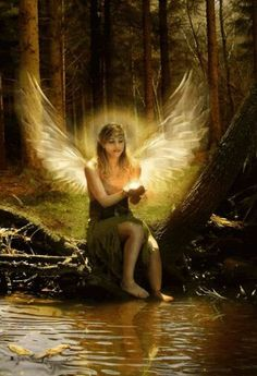 Angel Animation: Click the picture to see it move. Angels Among Us, Angels And Demons, Angel Gif, Gardian Angel, I Believe In Angels, Angel Pictures, Fairy Art, Moving Pictures, Faeries